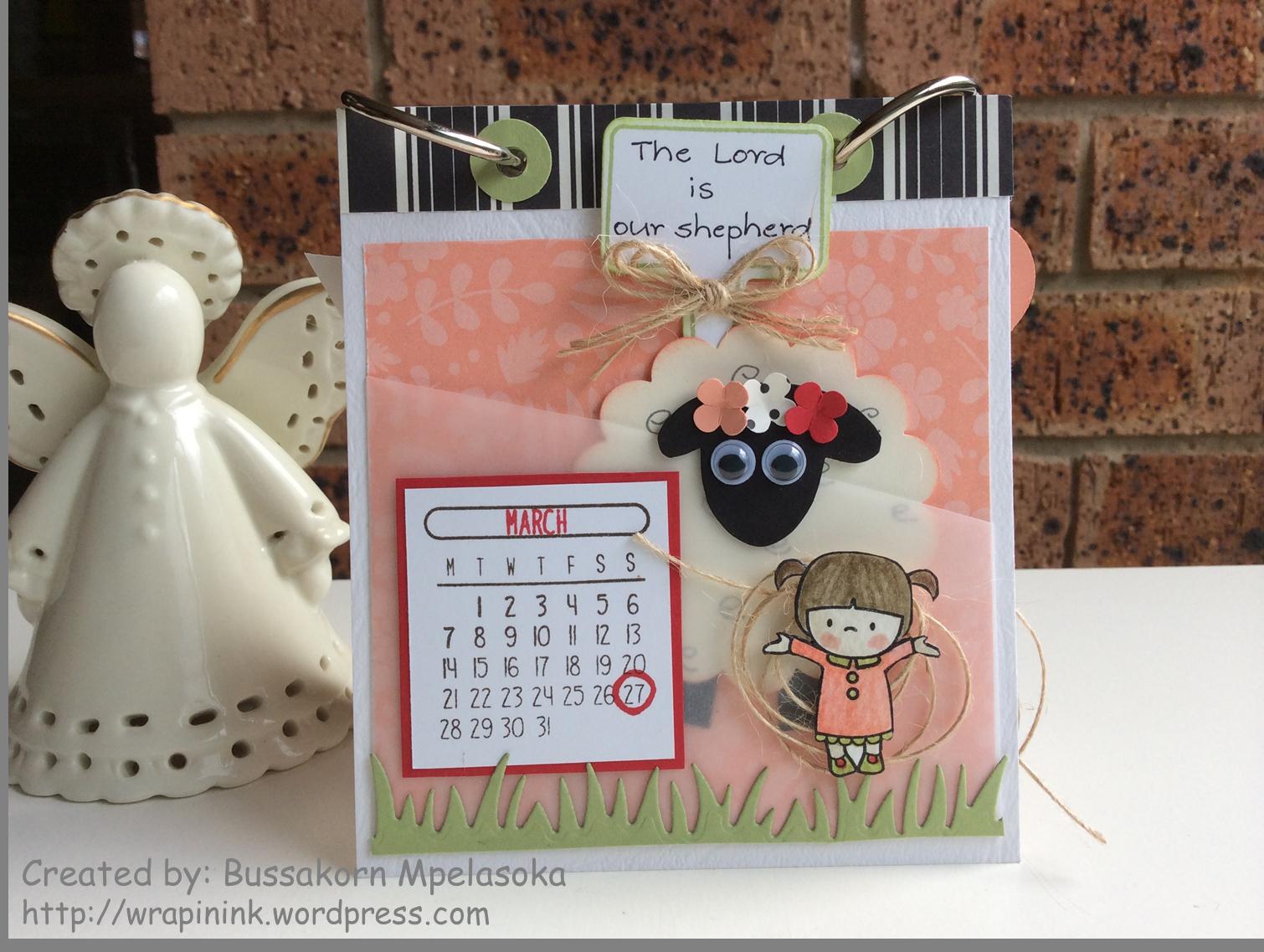 In My Heart 2016 Desktop Calendar March Wrap in Ink 1510x1137