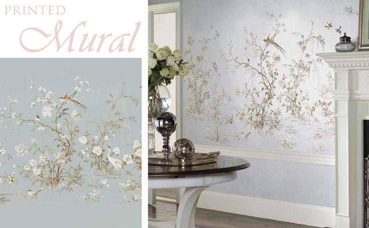 Hand painted wallpaper Wall Decor Pinterest 736x454