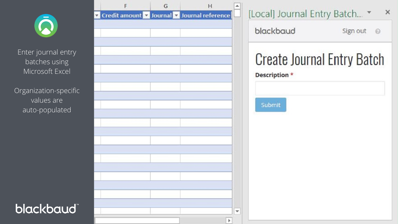 Journal Entry Batch Creator for Financial Edge NXT 1366x768