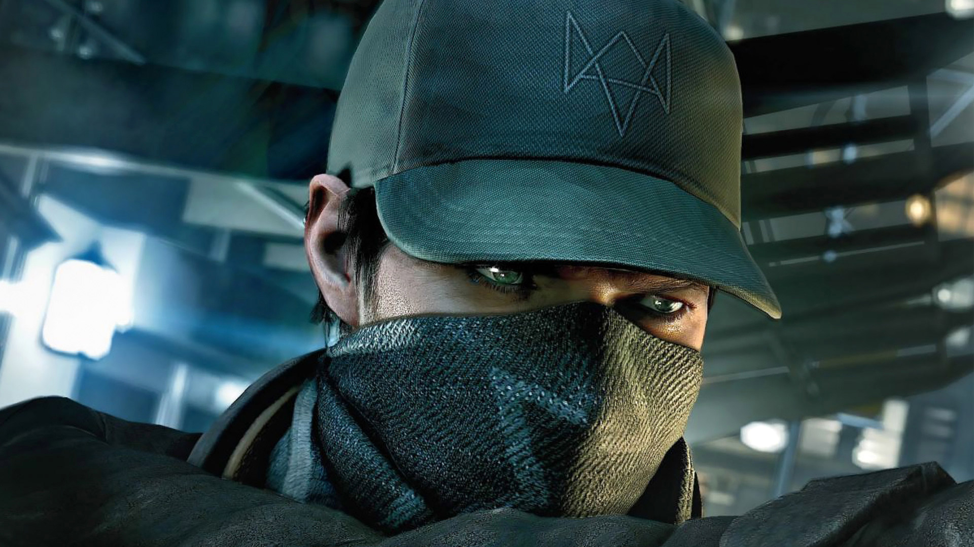 watch dogs video game aiden pearce scarf mask and cap with nexus logo 1920x1080