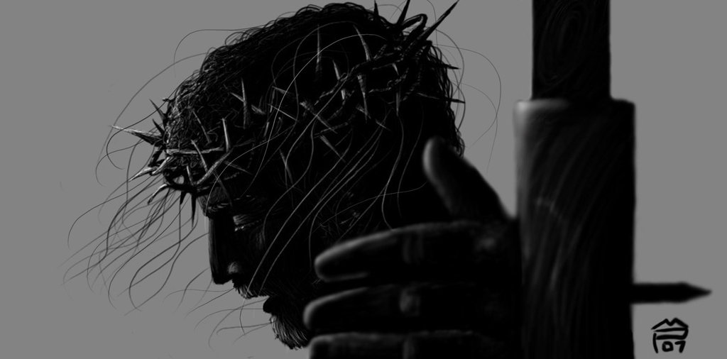 Jesus Crucified Wallpaper Crucifixion bw 1024x506