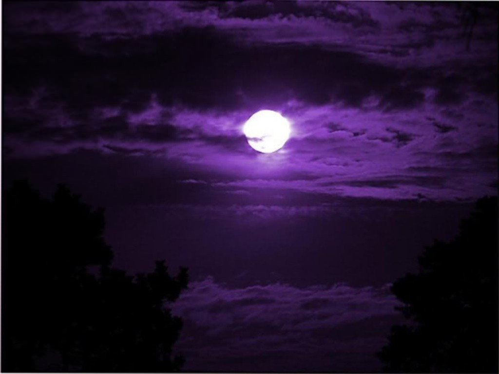 44 hd purple space wallpaper on wallpapersafari - Purple moon wallpaper ...