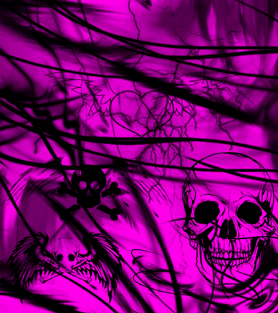 Pink And Black Skull Backgrounds