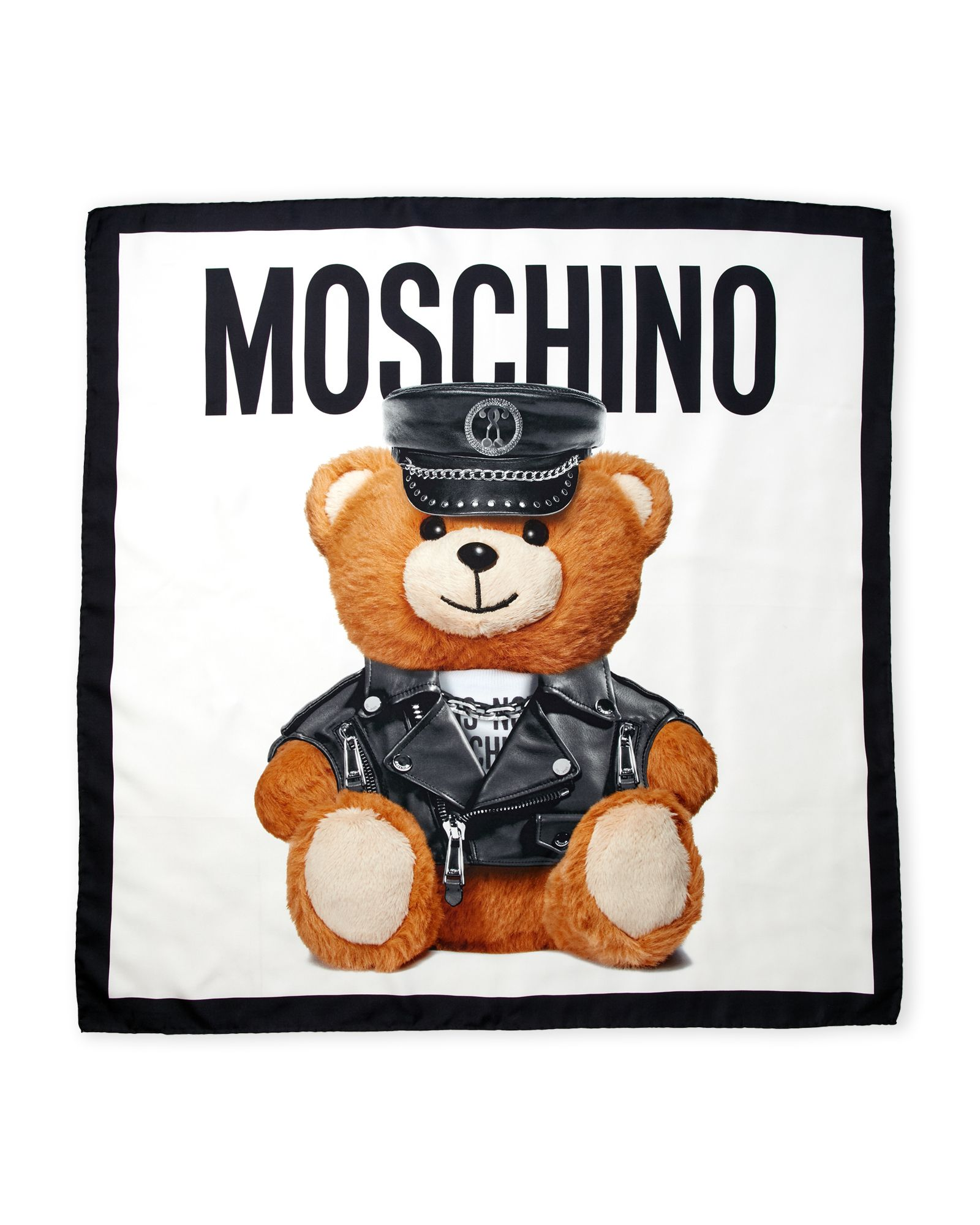 Moschino Silk Bear Scarf Apparel Accessories in 2019 1600x2000