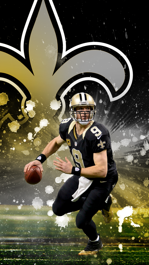 I made a Drew Brees phone wallpaper Hope you guys like it Saints 576x1023