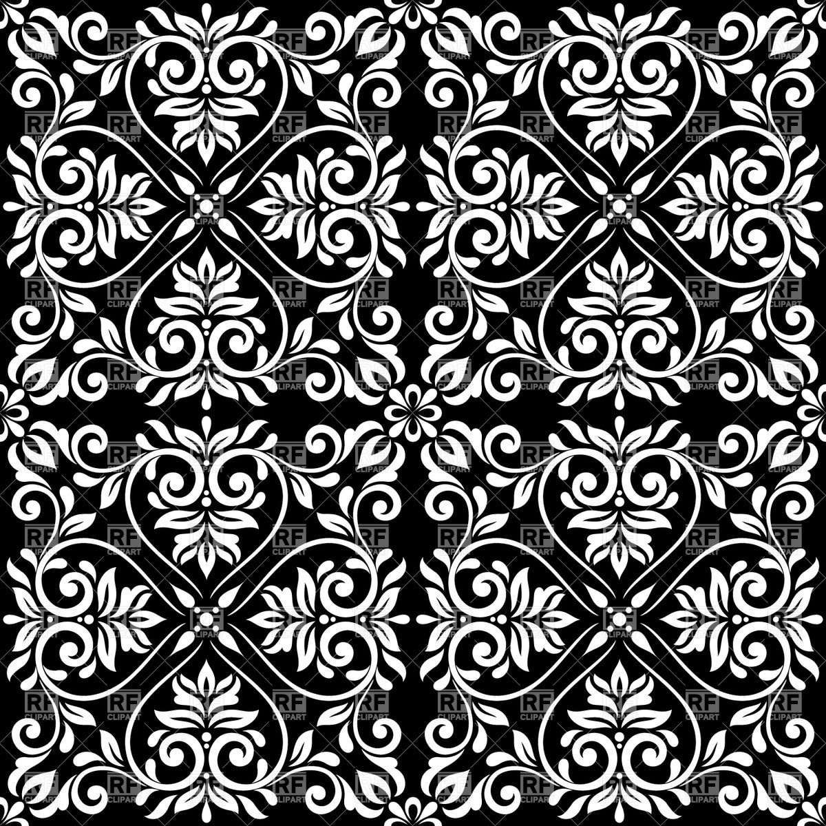 Black and white seamless vintage pattern   ornamental classic 1200x1200