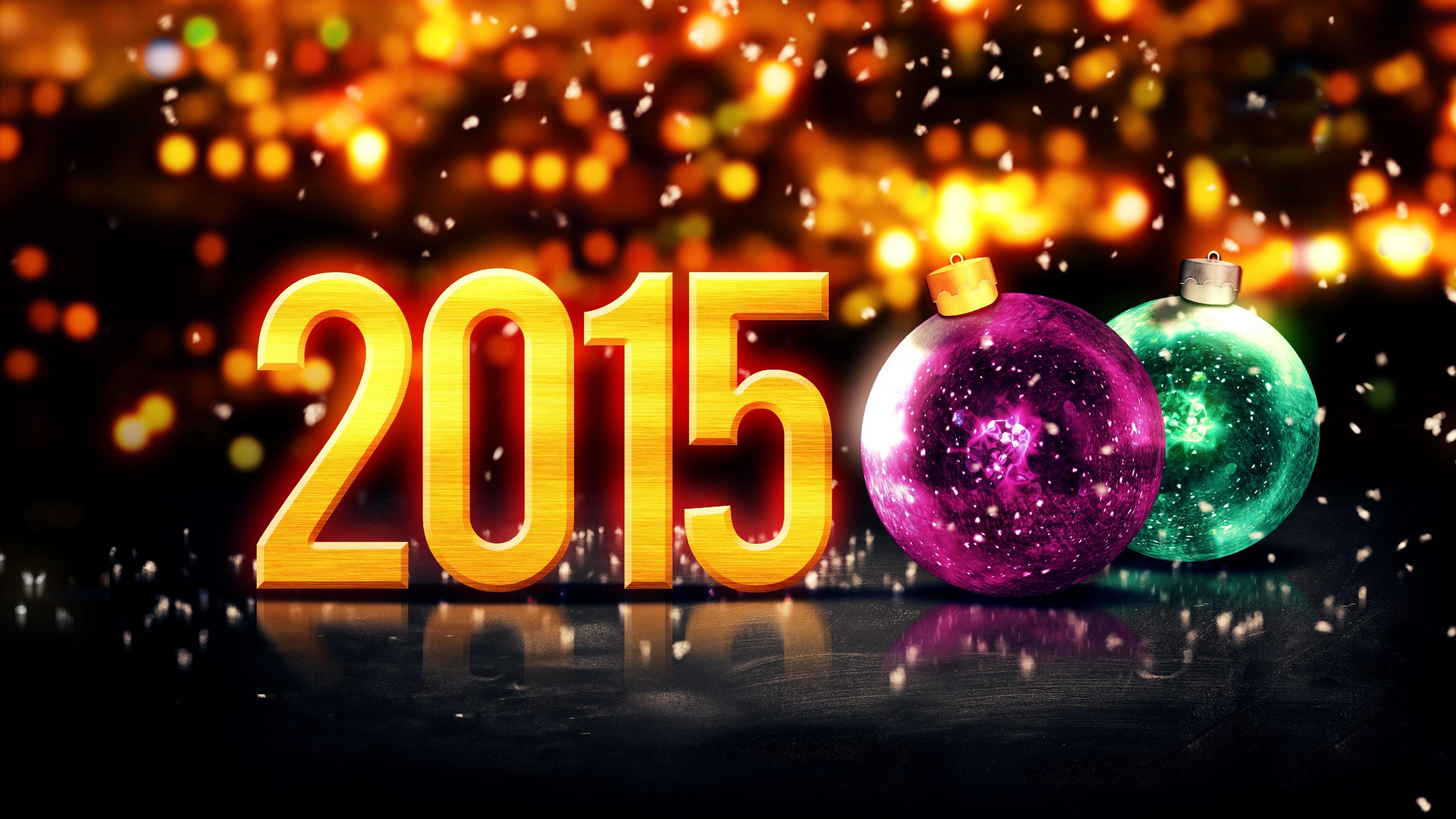 Happy New Year 2015 Ultra HD wallpaper UHD WallpapersNet 3840x2160