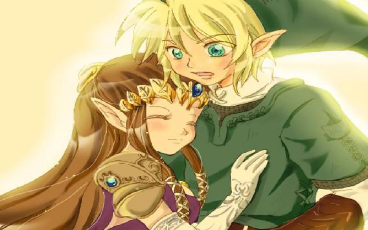 Zelda and Link   The Legend of Zelda Wallpaper 26503443 1280x800