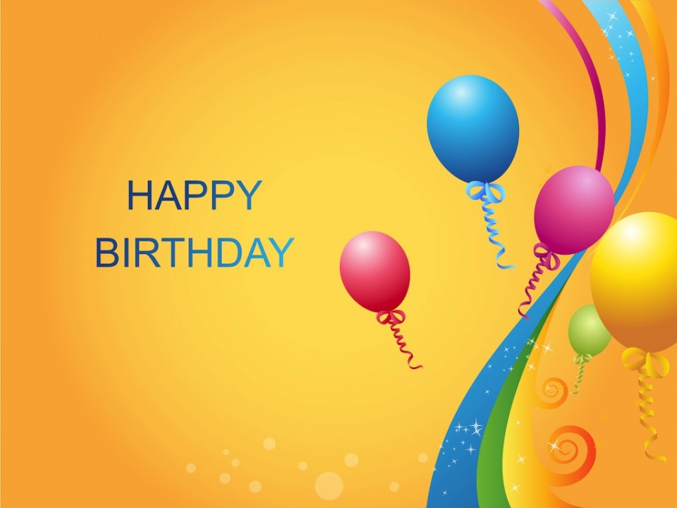 Happy Birthday Balloons Wallpaper 960x720 Full HD Wallpapers 960x720