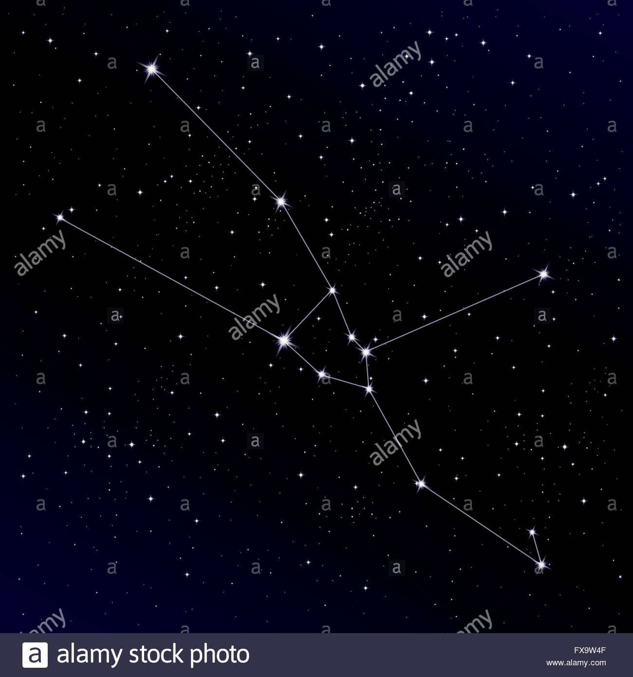 Constellation Taurus High Resolution Stock Photography and Images 1300x1390