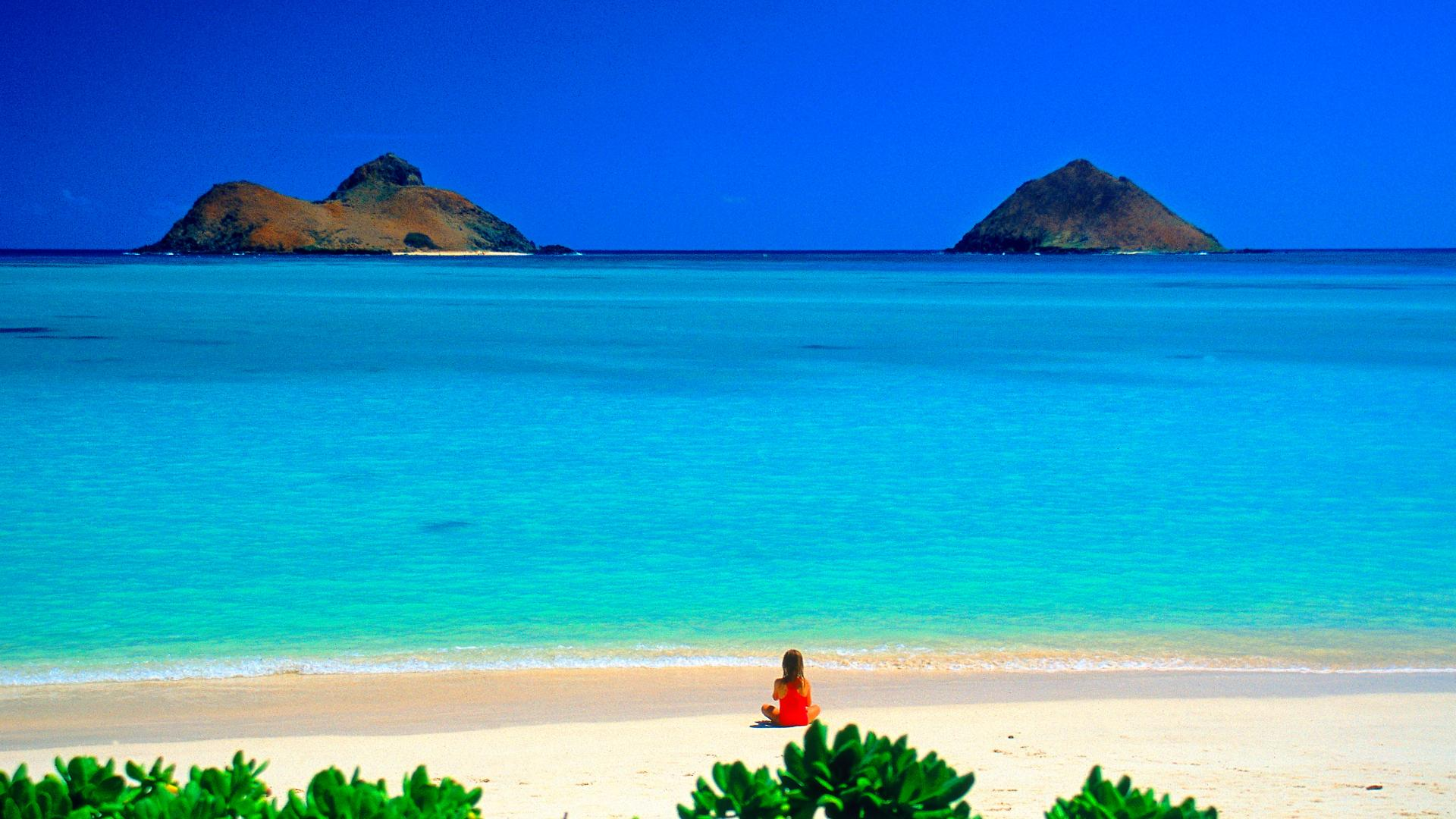 Beach Desktop Backgrounds and Wallpaper   Lanikai Beach Oahu Hawaii 1920x1080