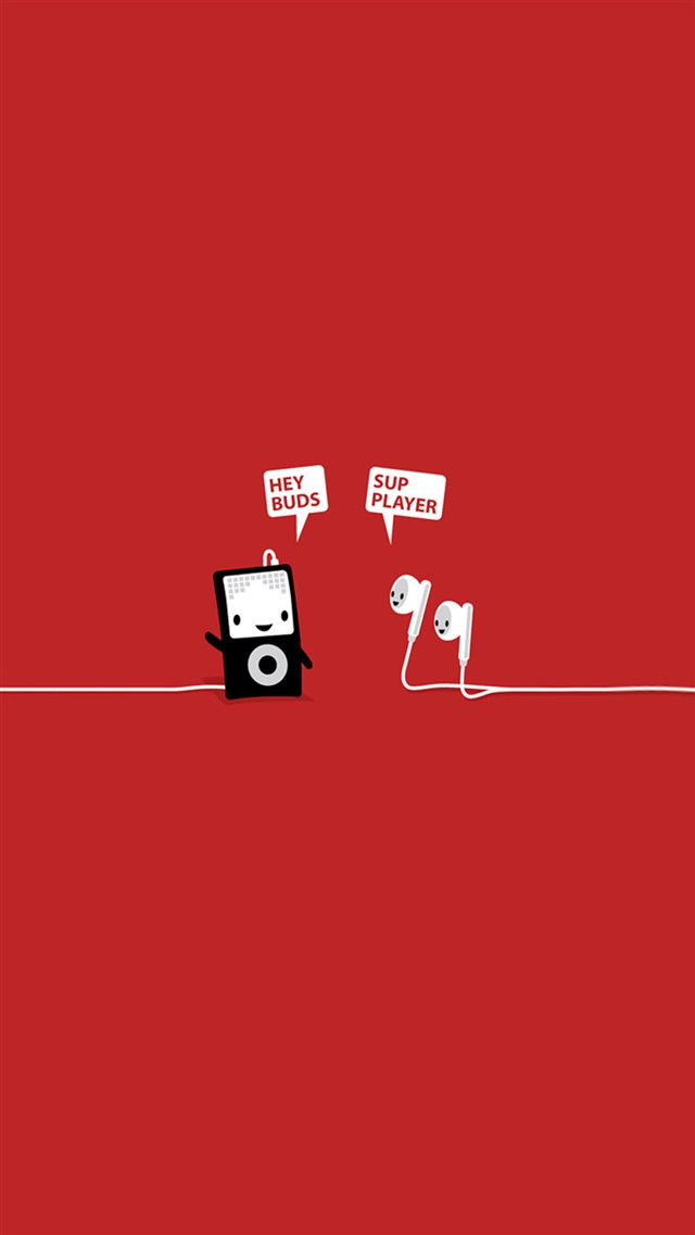 Funny Music Headphones Player Buds iPhone 8 Wallpapers Download 640x1137