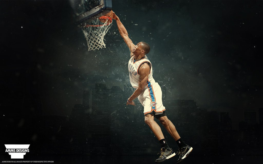 Russell Westbrook Shatter Wallpaper by AMMSDesings 1024x640