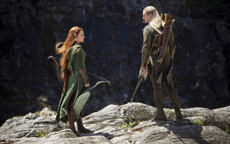 Desktop wallpapers The Hobbit The Desolation of Smaug Tauriel and 800x500