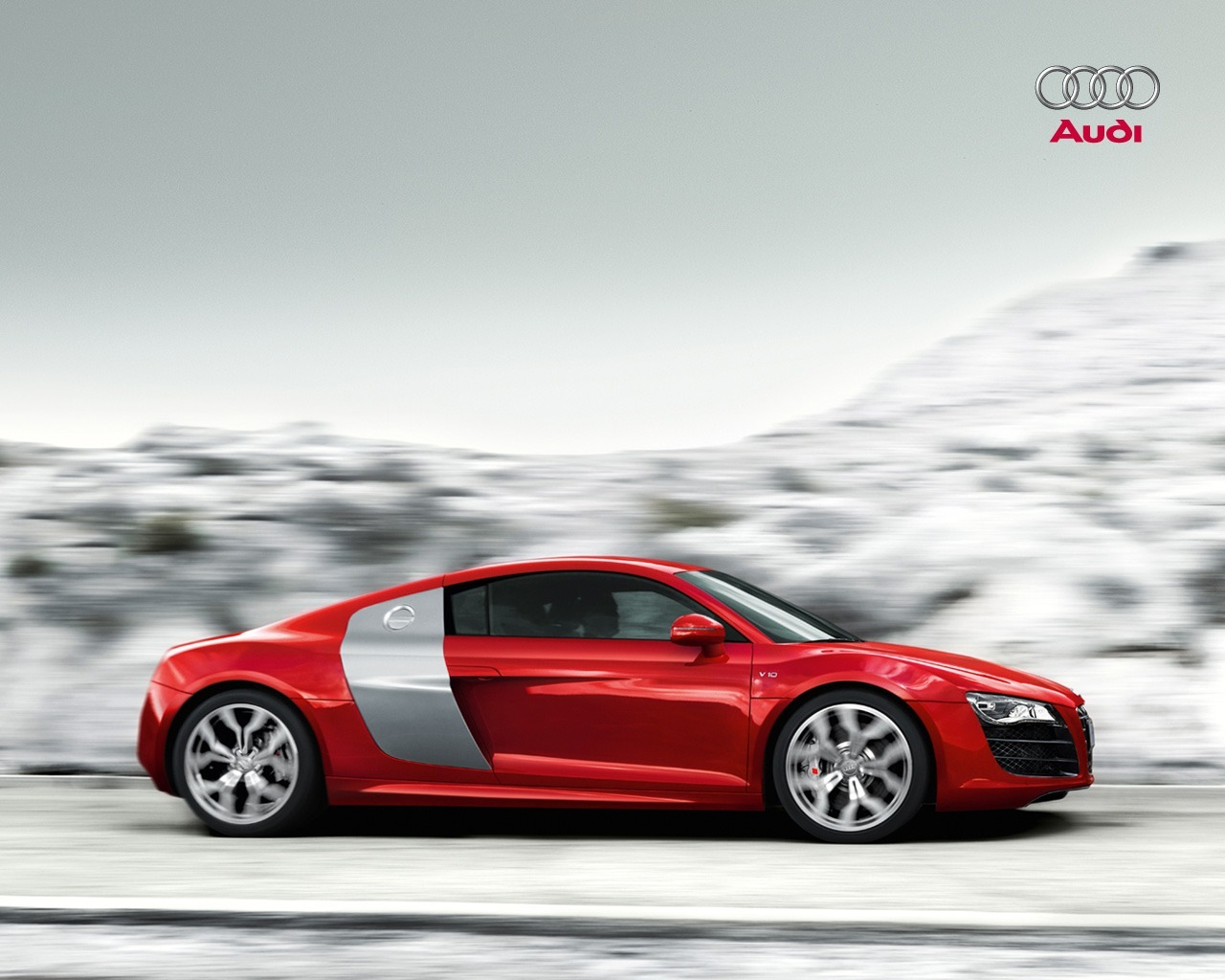 audi r8 v10 wallpaper wallpapersskin 1280x1024
