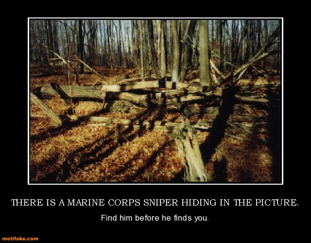 is a marine corps sniper hiding in the picture marine demotivational 640x500