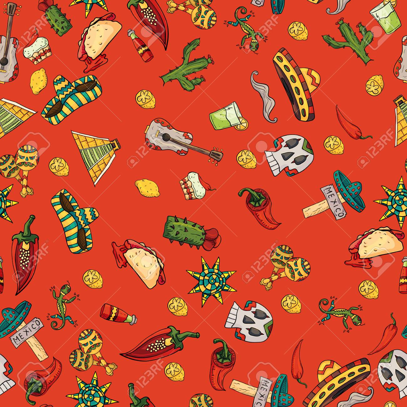 Seamless Pattern Vector Illustration On Isolated Background 1300x1300