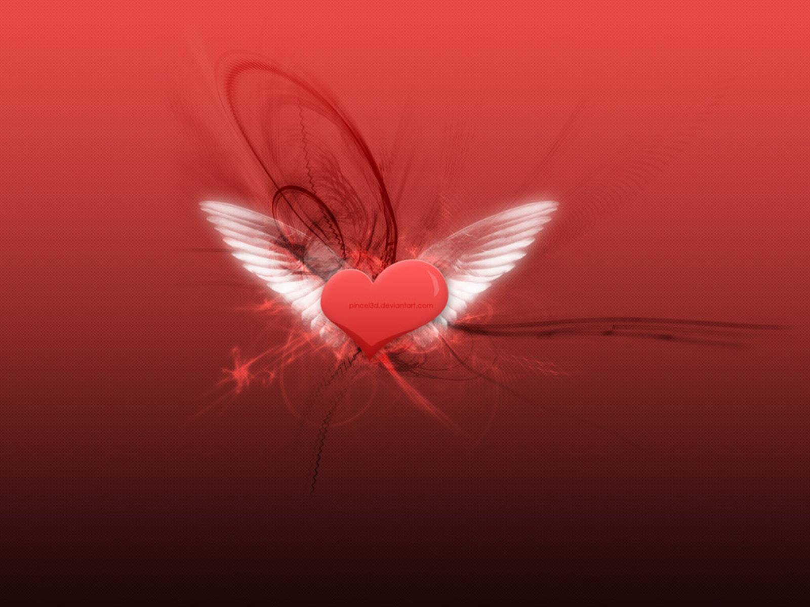 beautiful heart with wings wings 1600x1200