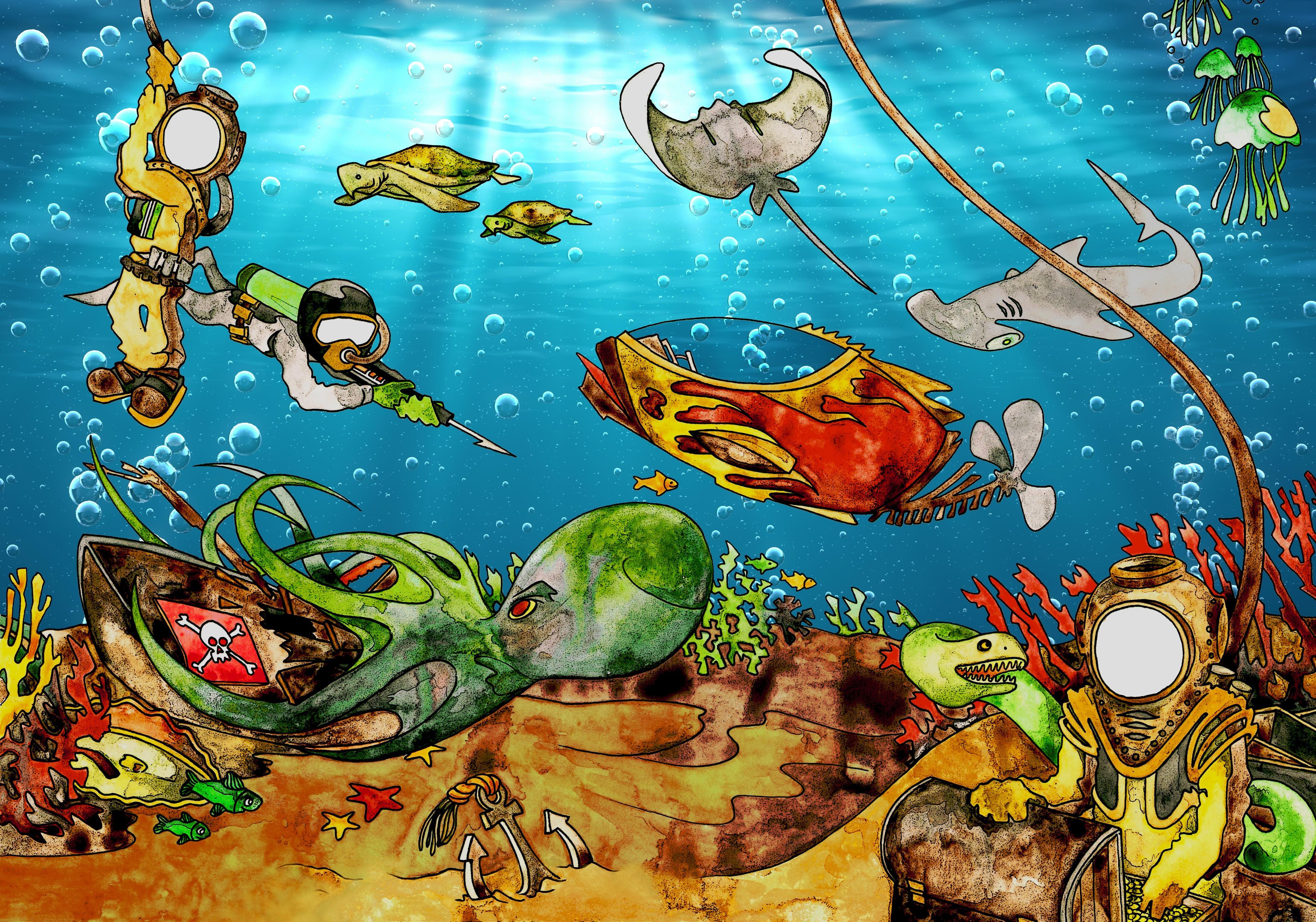 Ocean Theme Wallpaper Wallpapersafari