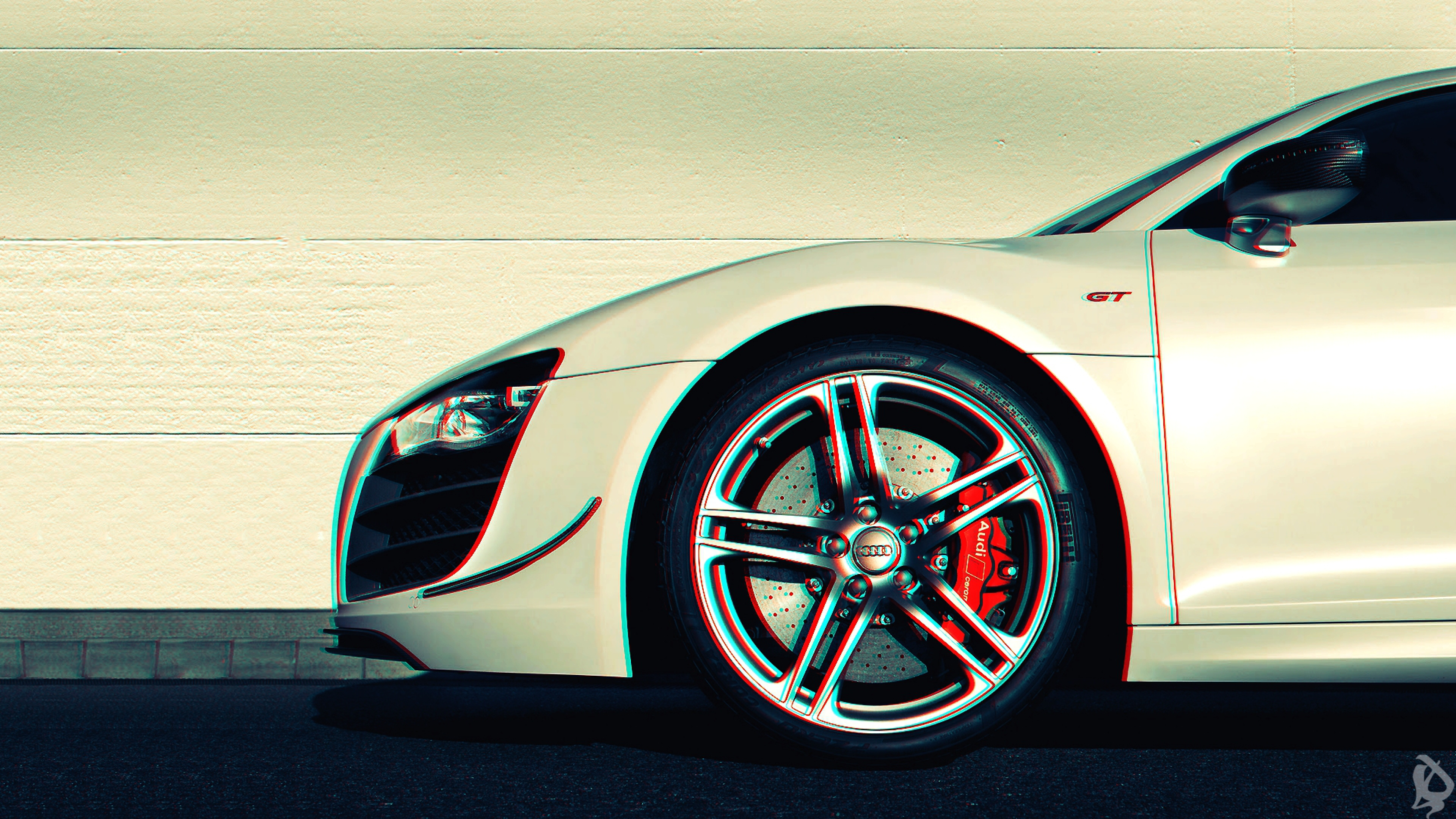 Download Wallpaper 3840x2160 Audi r8 Anaglyph 3d Car 4K Ultra HD HD 3840x2160