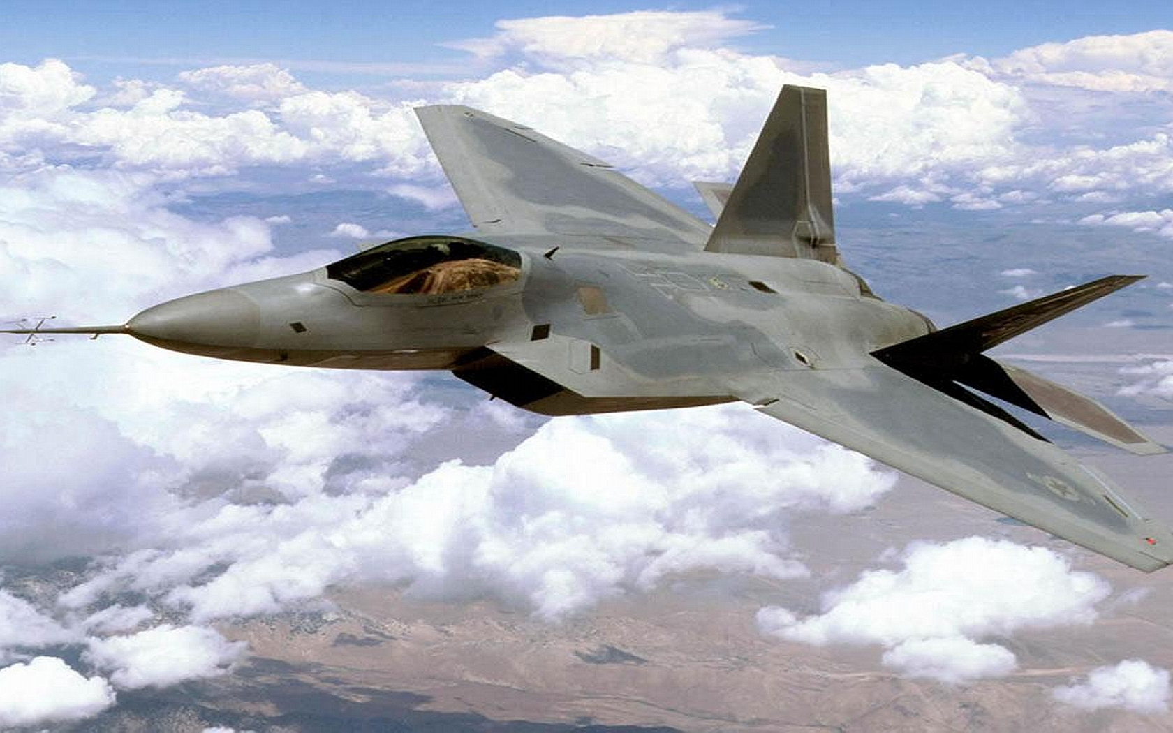 Download Lockheed Martin F 22 Raptor wallpaper 1680x1050