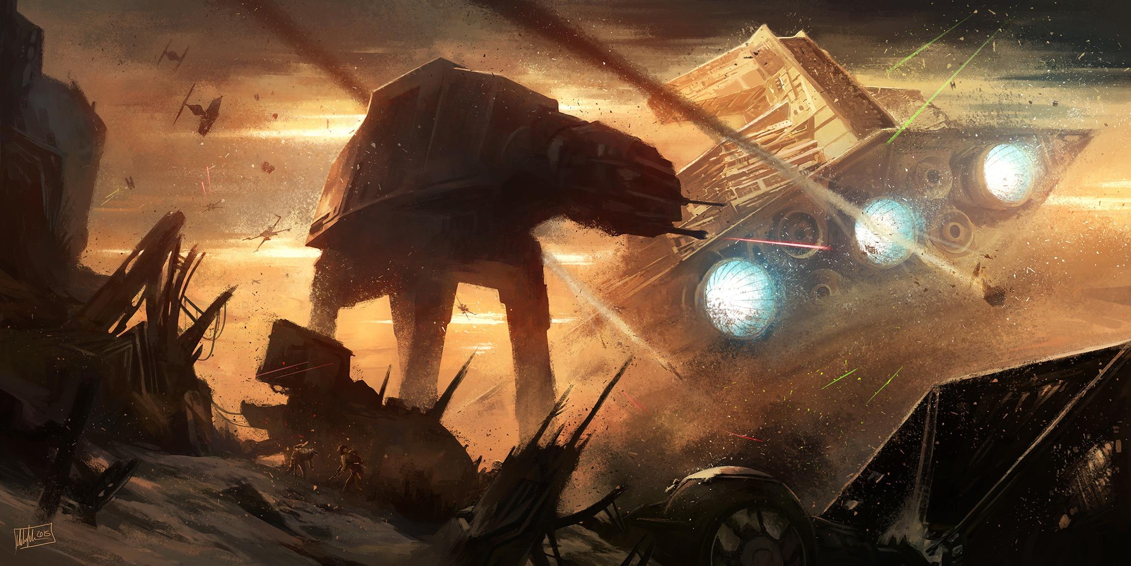 Battle of Jakku HD Wallpaper Background Image 2299x1150 ID 2299x1150
