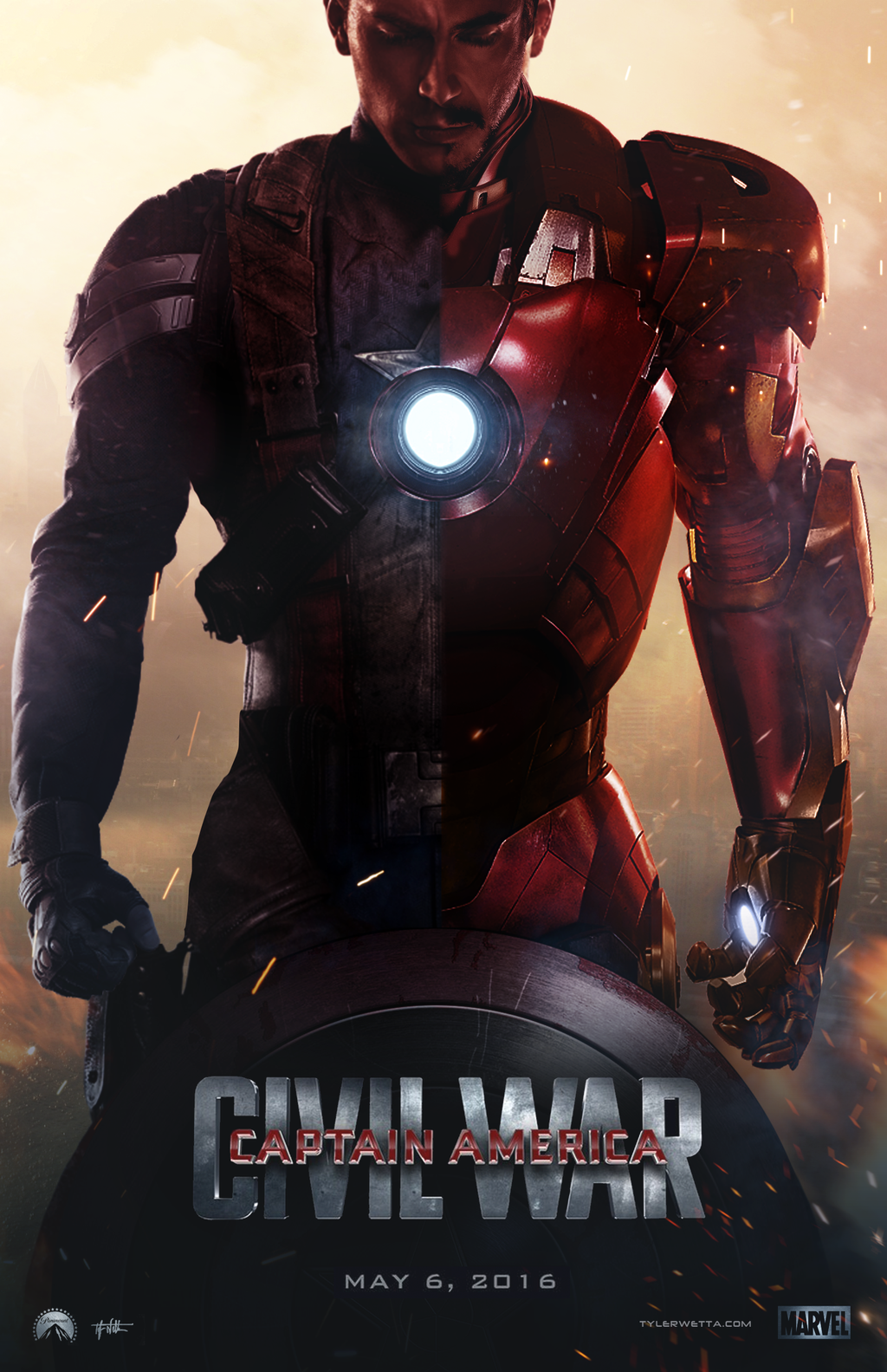 Captain America Civil War Movie Poster by AncoraDesign 1024x1583