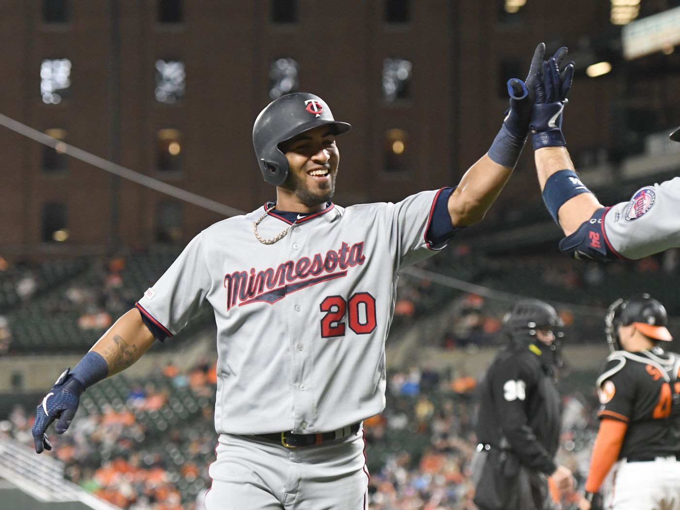 Eddie Rosario terrified by Easter Bunny hits many home runs 1400x1050