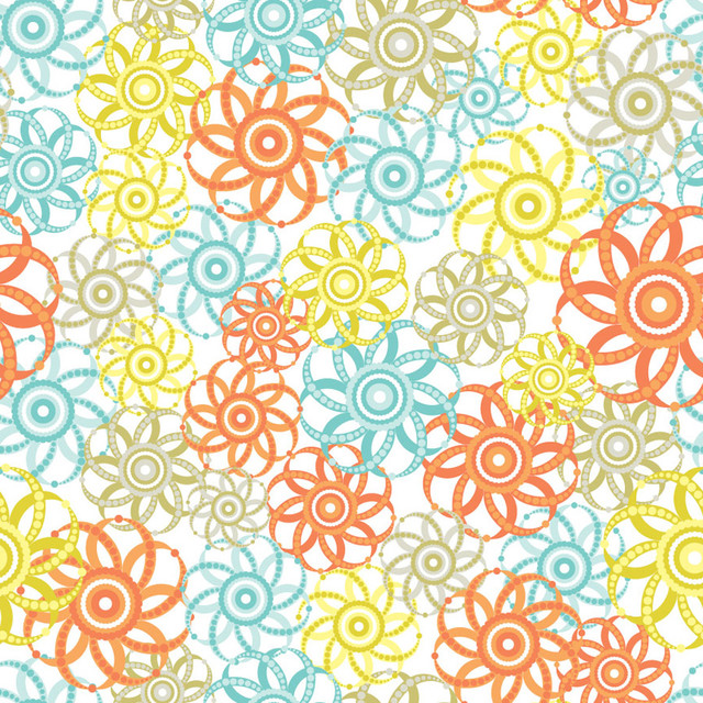 Pinwheels   Orange Aqua Wall Art contemporary wallpaper 640x640
