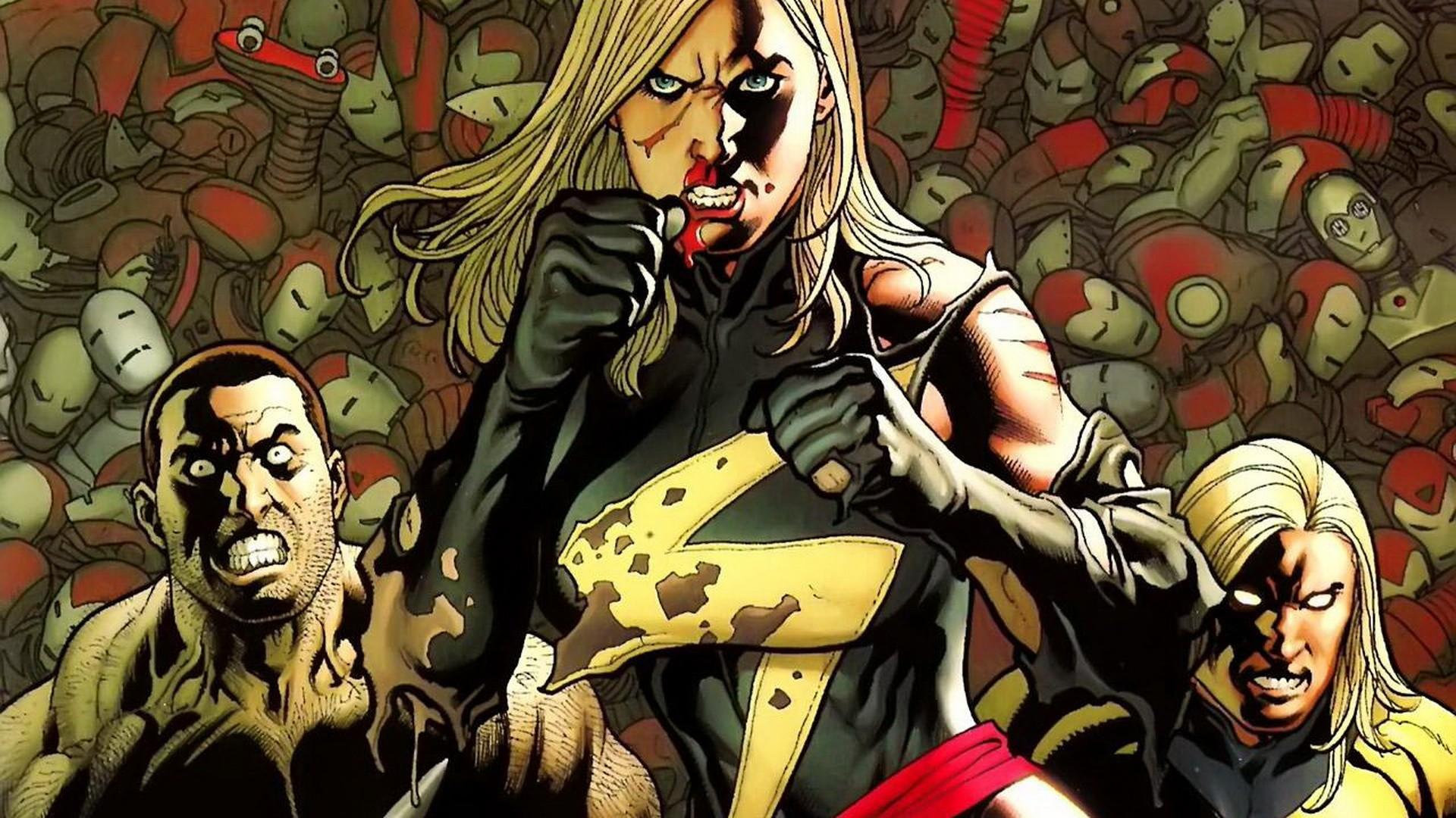 Comics Marvel Comics Ms  Marvel comics girls Luke Cage 1920x1080