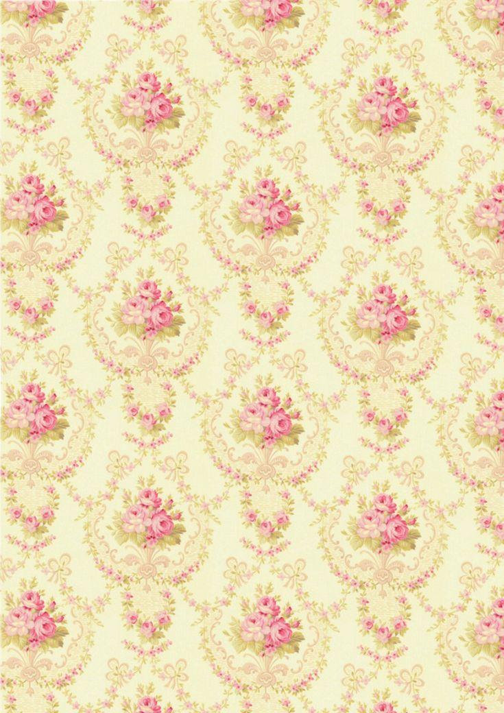 shabby chic wallpaper Shabby Chic Printables Pinterest 735x1040