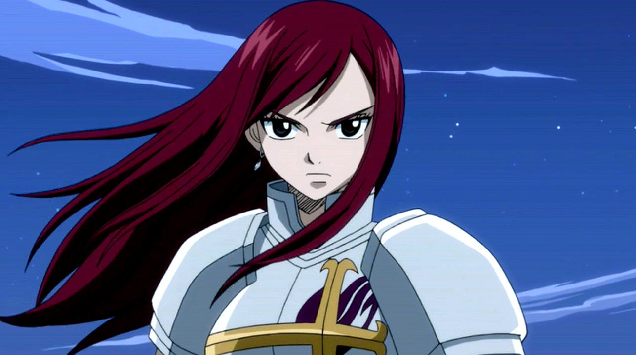 Fairy tail erza scarlet wallpaper wallpapersafari for Portent fairy tail