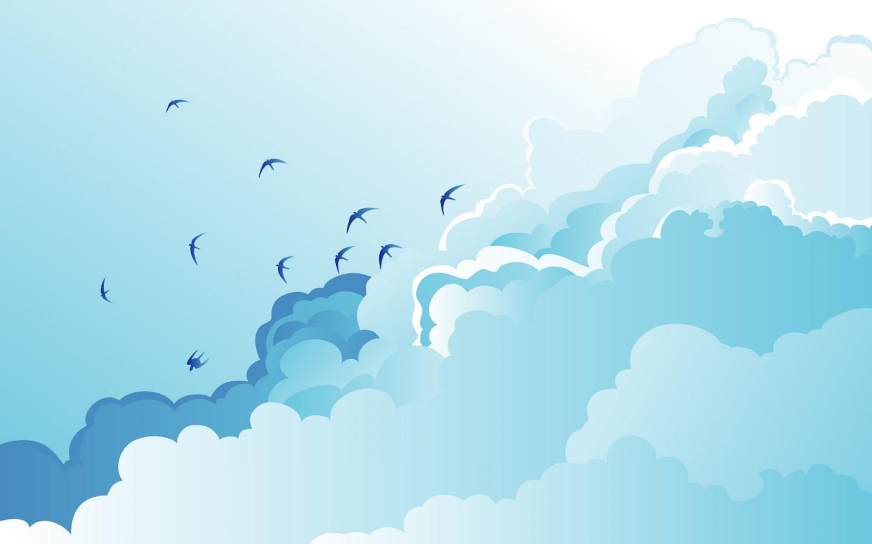1440x900 Cloud Birds desktop PC and Mac wallpaper 1440x900