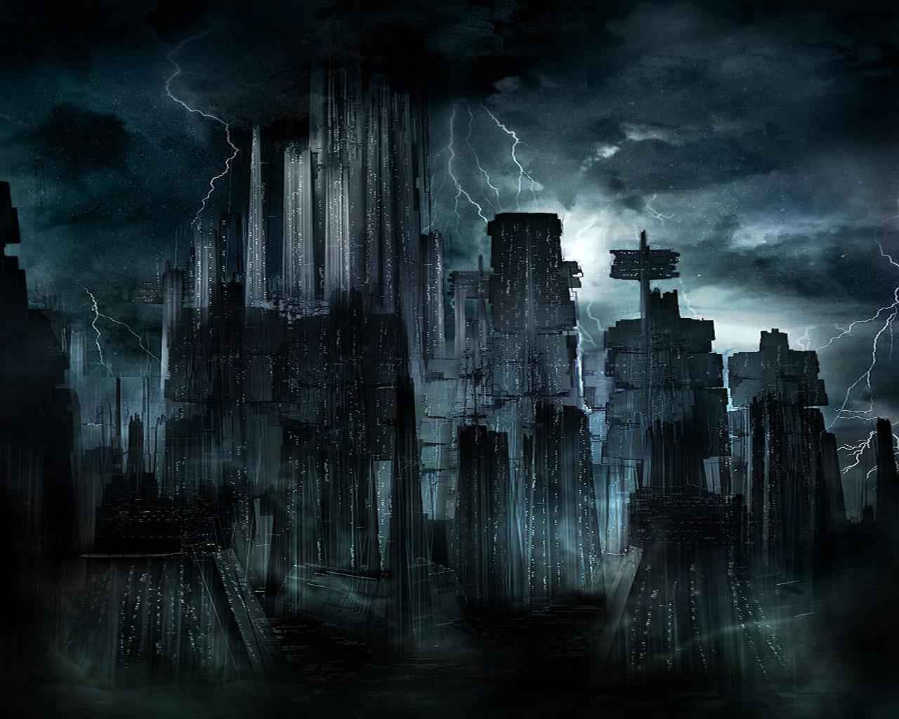 Dark city wallpaper Wallpaper Wide HD 1280x1024