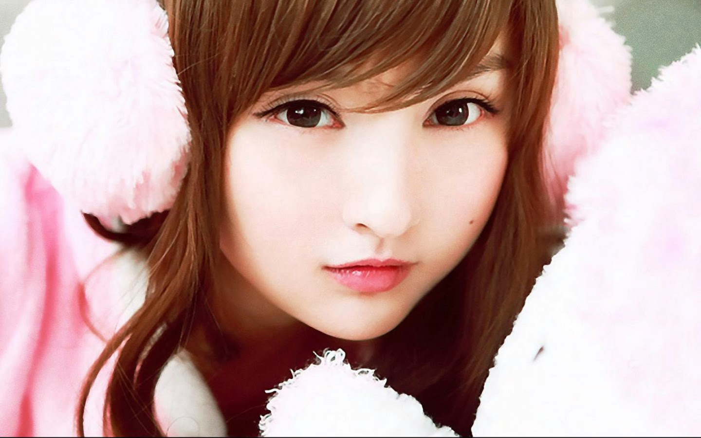 beautiful korean asian girl cute eyes lips hd wallpaper 1440x900 1440x900