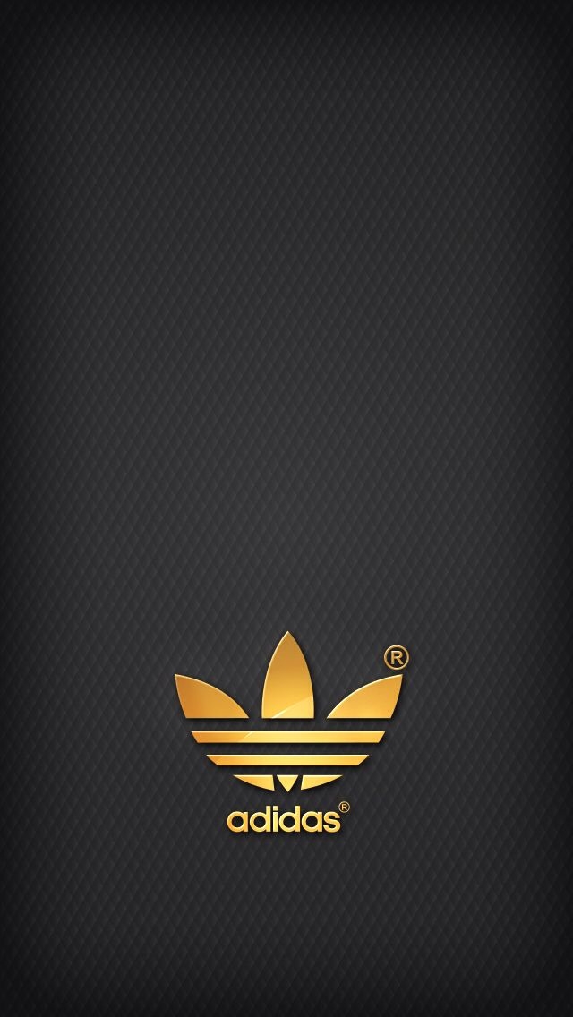Golden Adidas on grey background iPhone 5 Backgrounds 640x1136