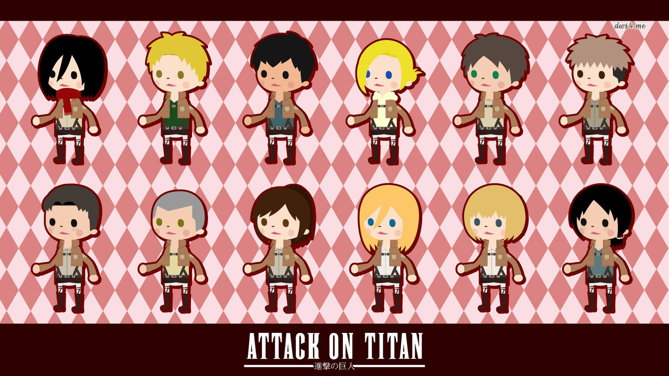 Chibi Attack on Titan wallpaper   Anime wallpapers   23406 1366x768