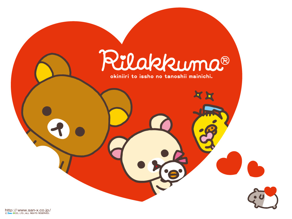 Rilakkuma Valentine Wallpaper Hello Kitty Wallpapers 1024x768