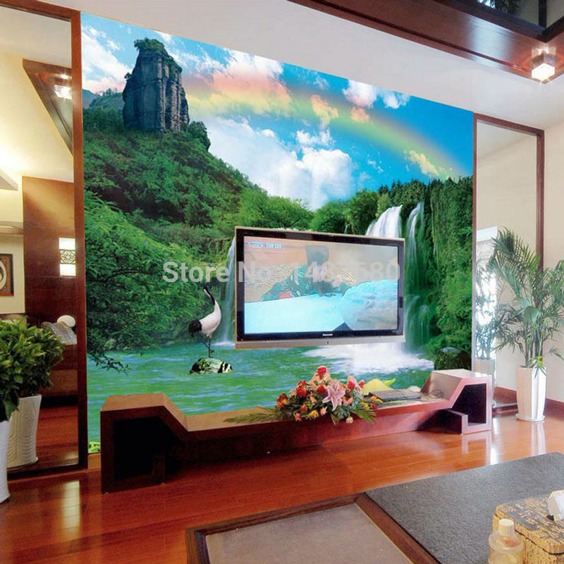 Non woven wallpaper bedroom wall landscape customized 3d mural wall 800x800