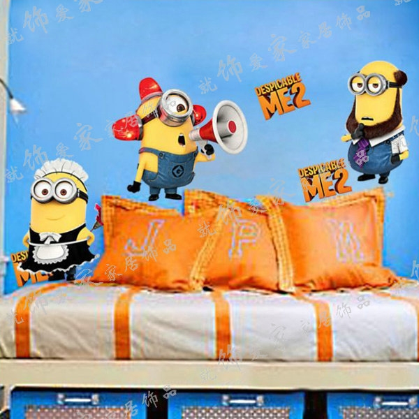 Cartoon Wall Stickers Despicable Me Bedroom Decal Removeble Wallpaper 600x600
