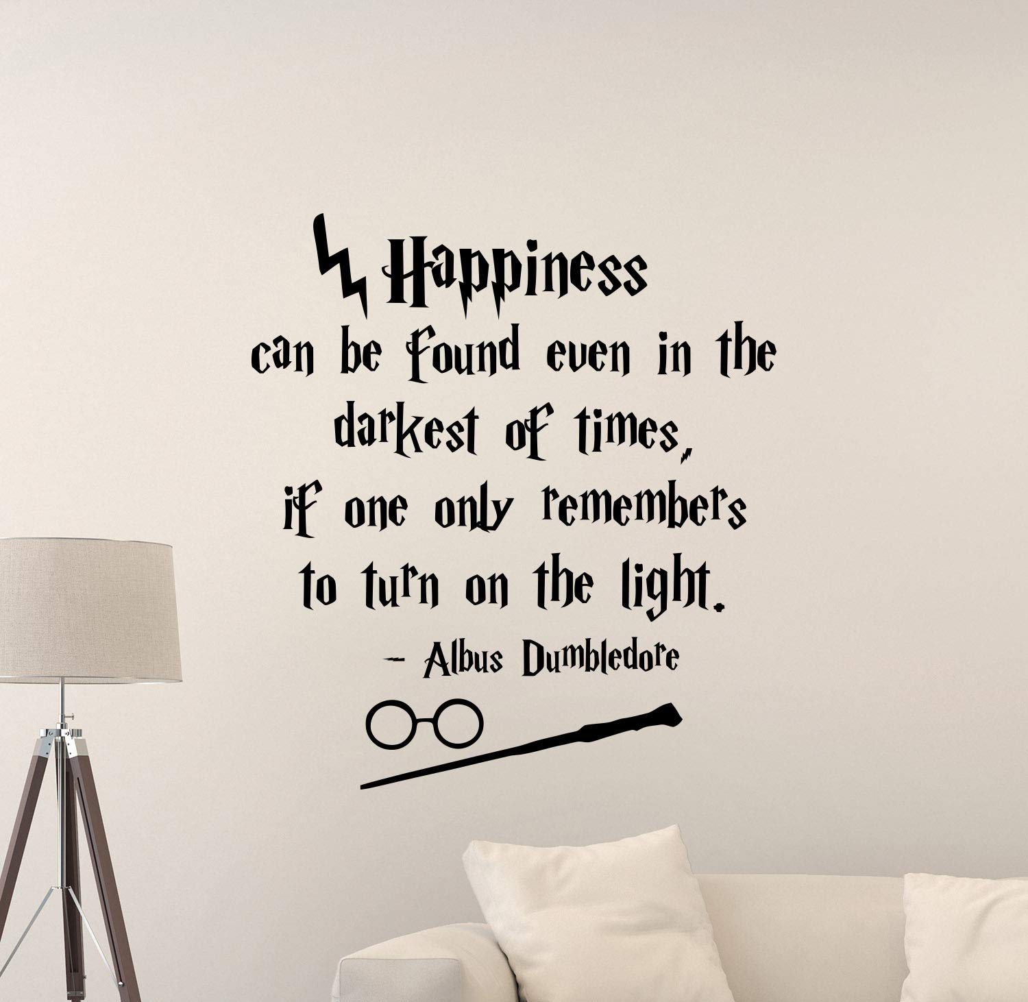 Amazoncom Albus Dumbledore Quote Harry Potter Wall Decal 1500x1462