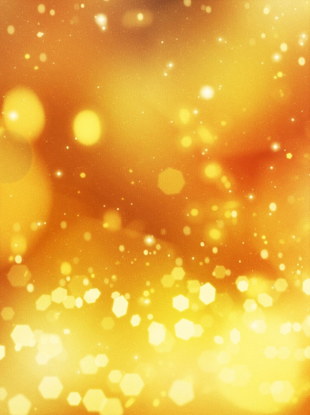 Pure Fantasy Orange Golden Spot Light Background Dreamlike Beauty 640x856