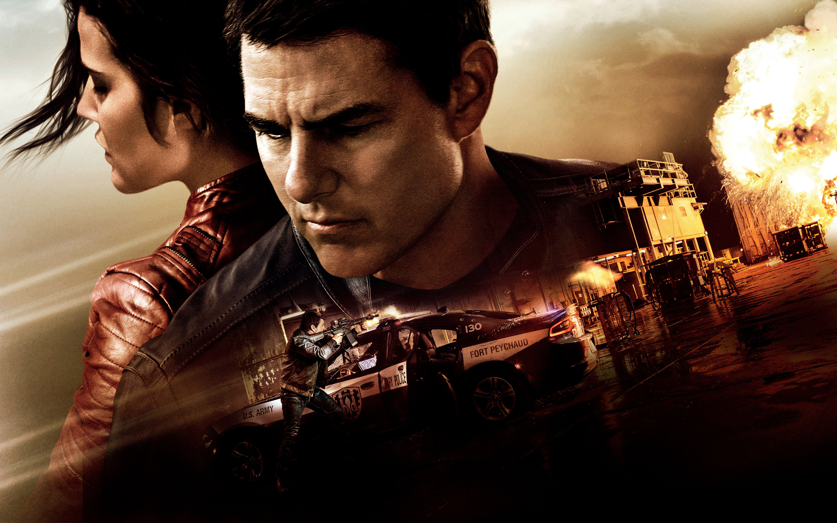 Jack Reacher Never Go Back Tom Cruise Cobie Smulders   Stock 2880x1800