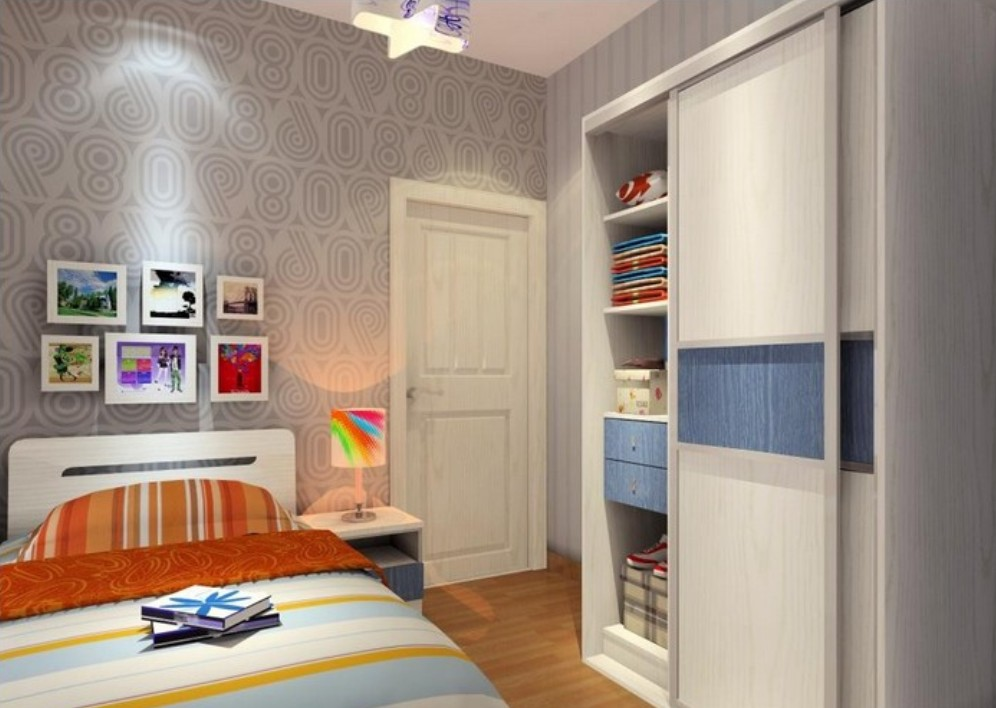 Free download Boys bedroom wallpaper and wardrobe 3D House