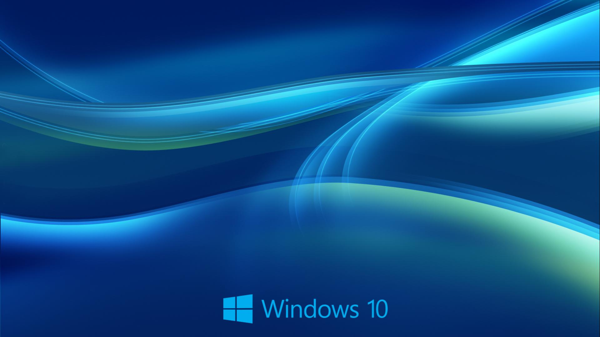 Windows 10 Wallpaper HD in Blue Abstract with New Logo HD Wallpapers 1920x1080