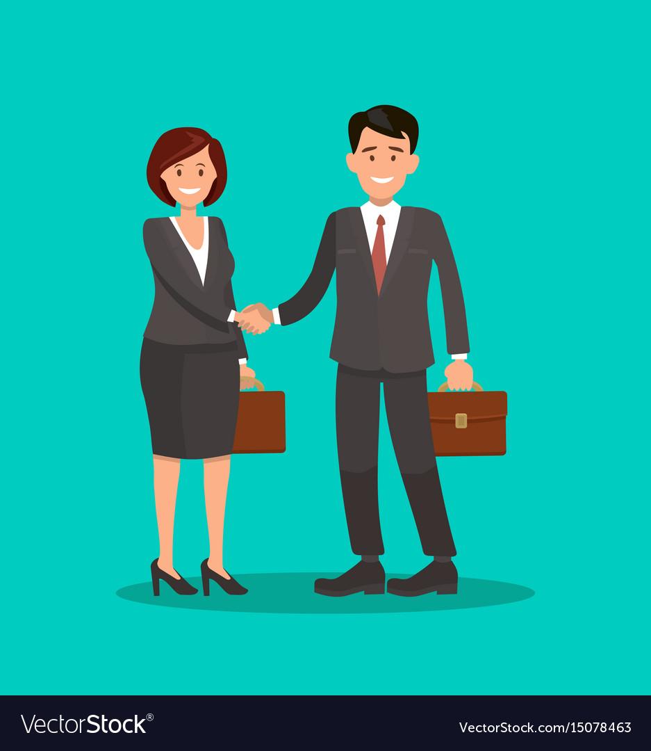 Background business cooperation handshake t Vector Image 937x1080