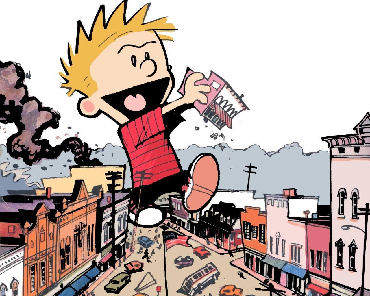 Calvin   Calvin Hobbes Wallpaper 1395519 1280x1024