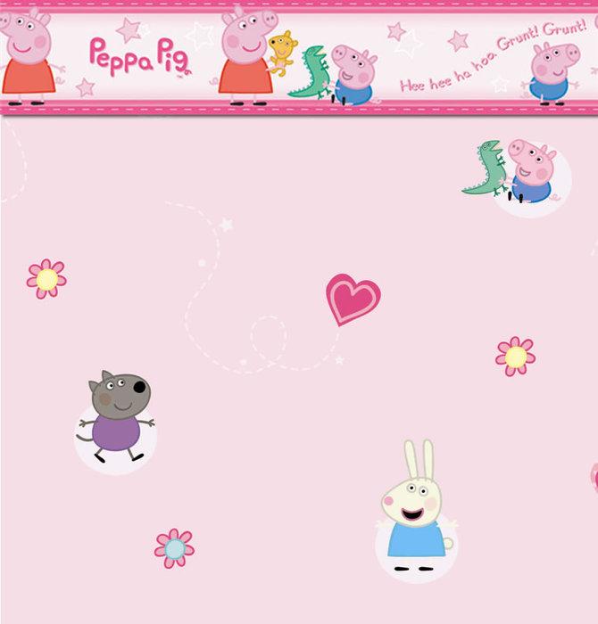 Childrens Rooms Peppa Pig Bedroom Peppa Pig Wallpaper Border 670x700