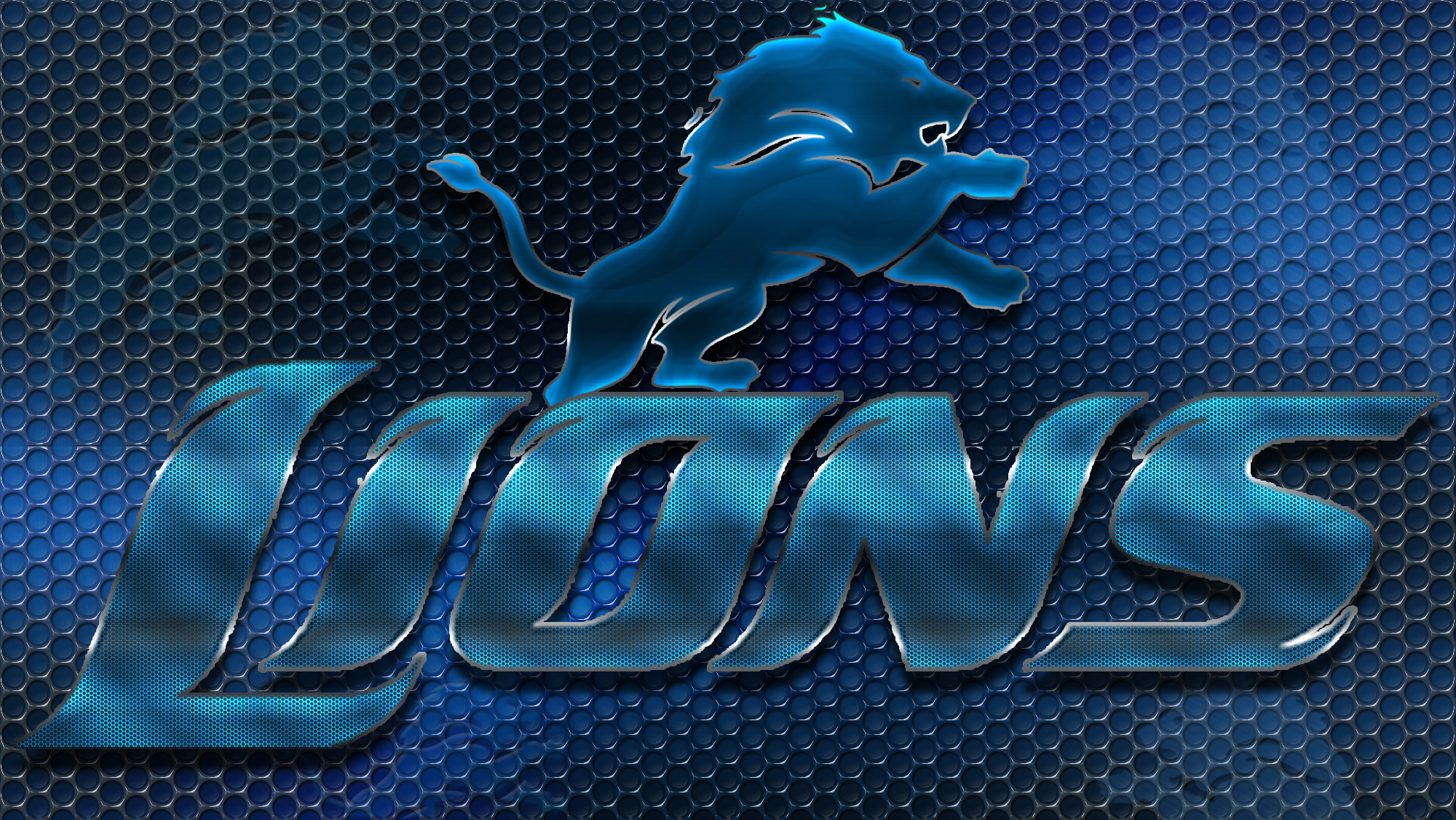 Detroit Lions Detroit Lions Heavy Metal 16x9 Text N Logo Wallpaper by 2000x1126