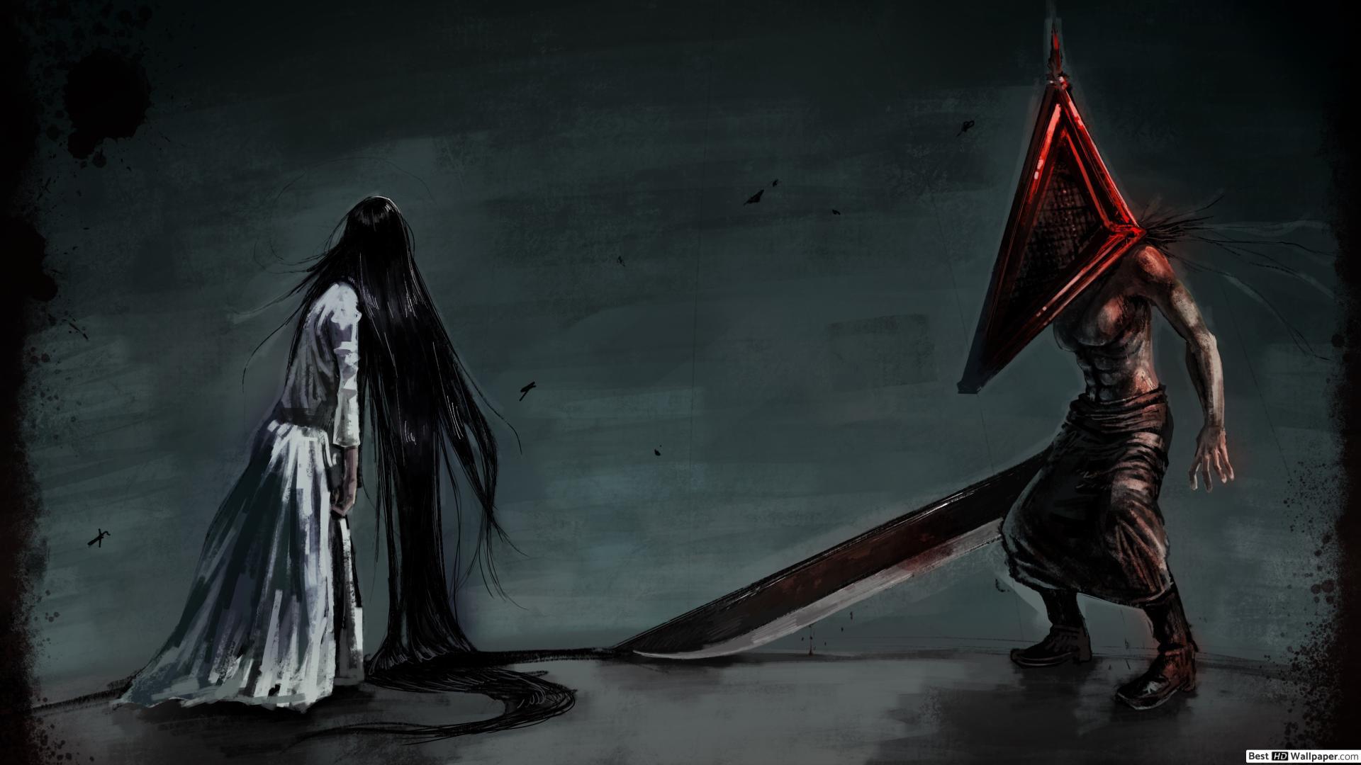 Free Download Silent Hill Sadako Pyramid Head Hd Wallpaper
